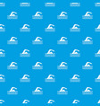 swimmer pattern seamless blue vector image vector image