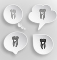Tooth White flat buttons on gray background vector image