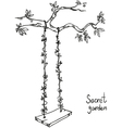 tree with a swing vector image vector image