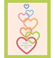 Valentines Day decoration with hearts vector image