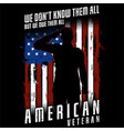 we dont know them all - american veteran vector image vector image
