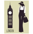 Woman in London vector image vector image
