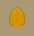 yellow autumn leaf vector image vector image