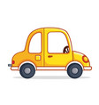 yellow car in cartoon style vector image