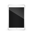 Realistic tablet pc computer with blank screen vector image