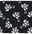 White Flowers On Dark vector image