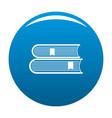 book college icon blue vector image