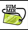 color vintage summer sale emblem vector image