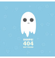 404 error the page not found with ghost vector image