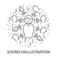 banners for sound hallucination vector image vector image