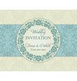 Baroque wedding invitation blue and beige vector image vector image
