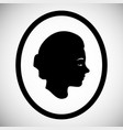 beautiful silhouette of a female face in profile vector image