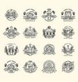 beer logo badges vintage craft old fashion vector image vector image