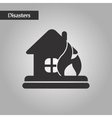 black and white style fire house vector image vector image