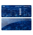 Blue boarding card vector image vector image