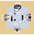 Brainstorming people top view vector image vector image