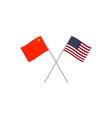china and usa flags vector image vector image