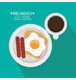 Coffee and breakfast design vector image vector image