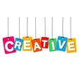 colorful hanging cardboard Tags - creative vector image