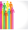 Colorful man icon background vector image
