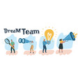concept of teamwork team member characters vector image