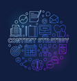 content strategy circular outline colorful vector image vector image