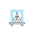 creating coziness linear icon concept creating vector image