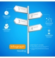 Direction post in Infographic Background vector image