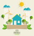 ECO FRIENDLY Ecology concept with Green city and vector image vector image