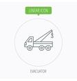 Evacuator icon Evacuate parking transport sign vector image vector image