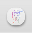 facelift surgery app icon vector image vector image