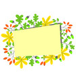 fall season frame autumn border with bright vector image vector image