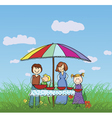 family in the park vector image vector image