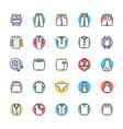 Fashion and Clothes Cool Icons 7 vector image vector image