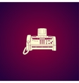 Fax machine Flat design style vector image