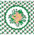 flowers circular pattern vector image vector image