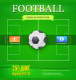 football or soccer banner with text design vector image vector image