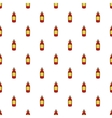Glass bottle of liquid pattern cartoon style vector image vector image
