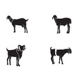 goat black animals logo and symbol vector image vector image