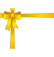 gold bow vector image vector image