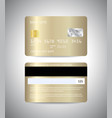 gold credit card front and back side of golden vector image
