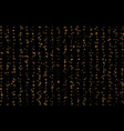golden dust falling sparkle gold rain lines vector image