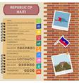 Haiti infographics statistical data sights Citadel vector image