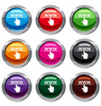 hand cursor and website set 9 collection vector image vector image