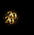 happy new year 2020 banner golden sparkling luxury vector image