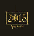 happy new year background with glittery snowflake vector image vector image