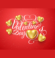 happy valentines day font composition golden vector image