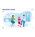 isometric screen for medicalpediatric application vector image vector image