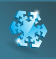 isometric snowflake icon with various perspective vector image