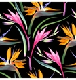 Jungle flowers seamless vector image vector image